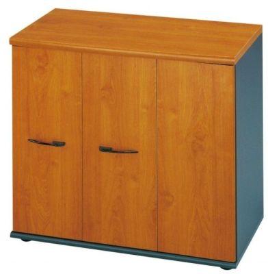Jazz Low Storage Cupboard With Folding Doors In A Warm Alder Finish