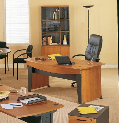 Jazz Executive Office Furniture Range With A Designer Black Leather Manager's Chair