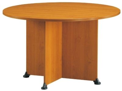 Jazz Circular Meeting Table In A Warm Alder Finish