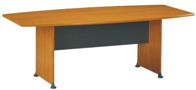 Jazz Boat Shaped Conference Table In A Alder Finish With A Contrasting Modesty Panel