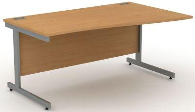 Avalon Beech Right Hand Wave Desk
