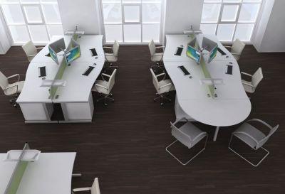 Avalon White Desk Arrangement