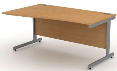 Avalon Beech Left Hand Wave Desk