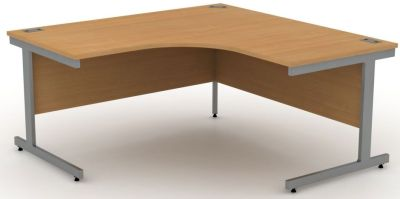 Avalon Extra Large, Steel Framed Corner Desk In Beech