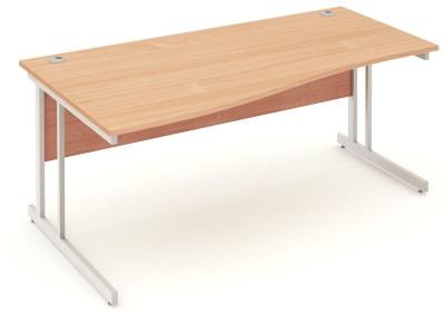 Mansfield 1800mm Left Hand Wave Desk In Beech