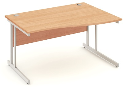 Mansfield 1600mm Righ Hand Wave Desk In Beech