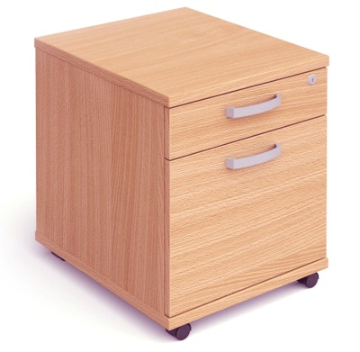 Mansfield 2 Drawer Mobile Pedestal