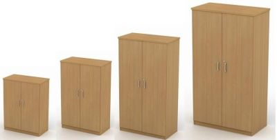 Avalon Double Door Cupboards In Beech With Lock In Four Sizes