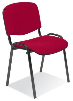 Stakka Conference Chair Upholstered In Red Fabric, Stackable