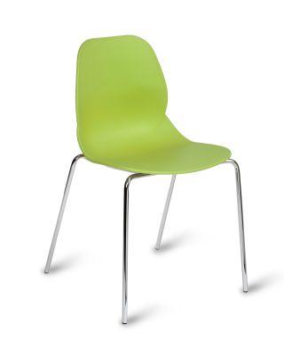 Macklie Four Leg Poly Chair Lime Green