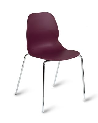 Mackie Four Leg Poly Chair Plum