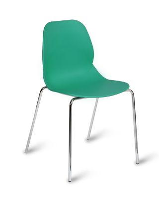 Mackie Four Leg Poly Chair Turquoise