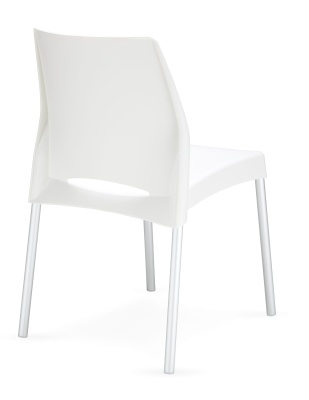Solar White Outdoor Plastic Chair