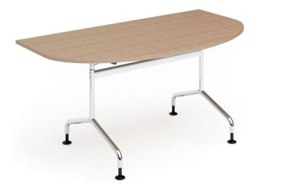 Tamar Half Moon Flip Top Table With Glides