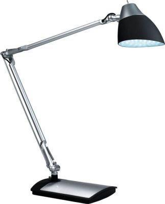 Calypso Articulated LED Desk Lamp In Aluminium And Silver