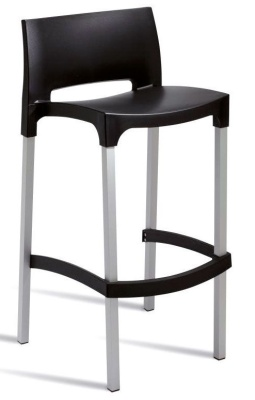 Geo High Stool Black