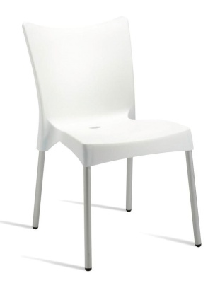 Zapster Outdoor Poly Chair White