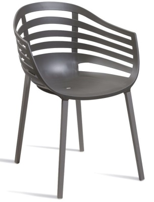 Kirby Dark Grey Outdoor Plastic Chair