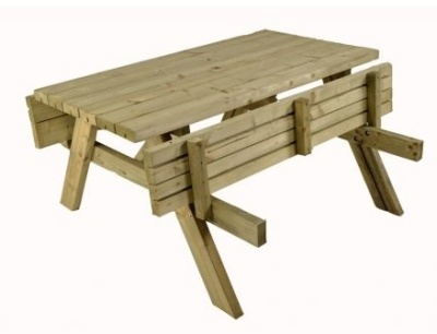 Wanstead Picnic Table Folded
