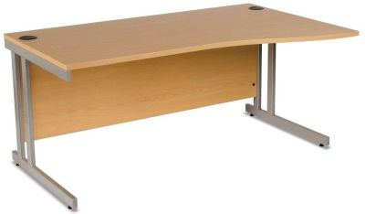GX Right Hand Wave Desk With Double Strut Cantilever Frame For Additional Strength With A Scratch Free MFC Top