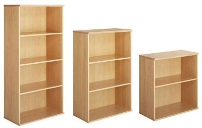 Taurus Wooden Bookcases In Three Different Heights With Adjustable Internal Shelves