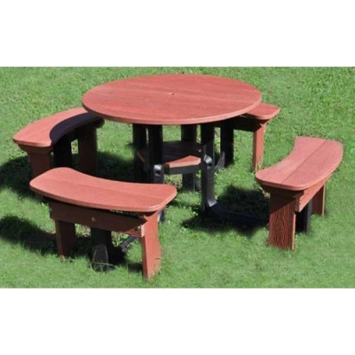 Rustique Round Plastic Picnic Table