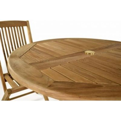 Westlea Round Teak Table Detail