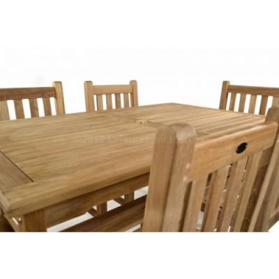 Coventry Outdoor Teak Table Detail