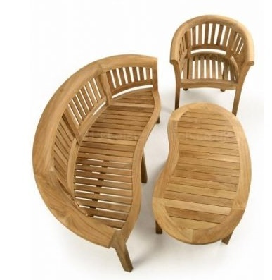 Hungerford Outdoor Teak Coffee Set Aerial View