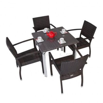 Atal Outdoor Wave Dining Set