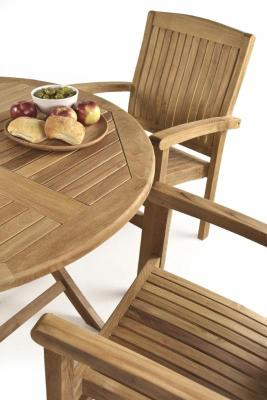 Fiesta Outdoor Teak Dining Set Close Up