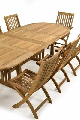 Leicester Eight Seat Outdoor Dining Set
