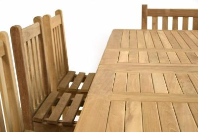 Malvern 10 Seater Teak Dining Set Close Up