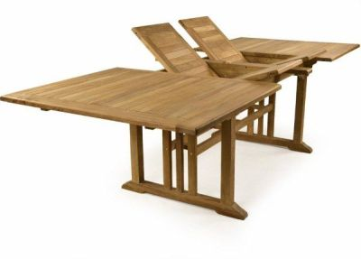 Rochester Double Leaf Extendable Teak Table