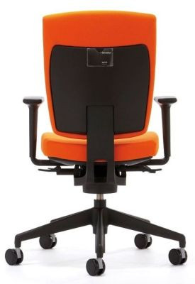 Sprint Task Chair Upholstered In Orange With Back Height Adjustment