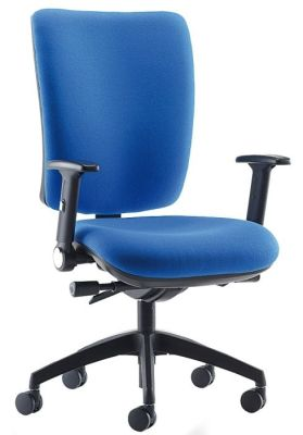 Icon Plus Swivel Chair In Blue With Black Base And Arms