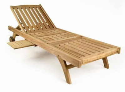Georgie Wooden Teak Sun Lounger