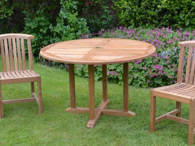Jacob Outdoor Round Teak Table