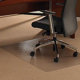 Cleartex Transparent Chair Mat Provides A Smooth Surface For Castors