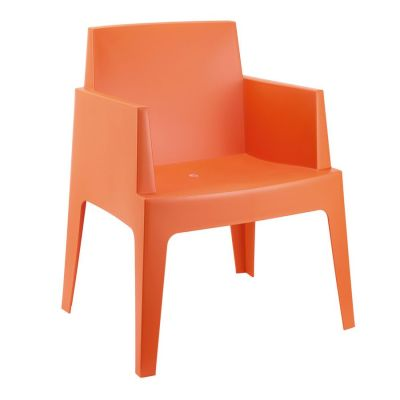 Chuck Outdoor Orange Plastic Chair