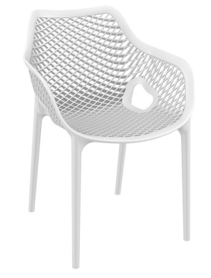 Percy Outdoor White PLastic Armchair