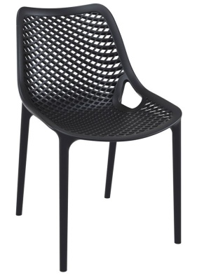 Percy Black Outdoor Plastic Sidechair