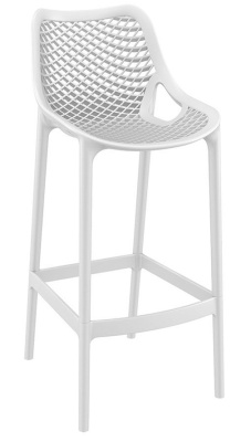 Percy White Plastic High Stool