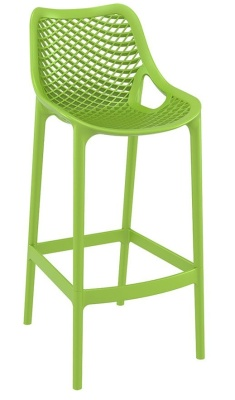 Percy Lime Green Outdoor Plastic High Stool