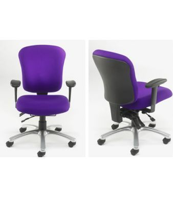 TRX Ergonomic Chairs In Purple Fabric With Contoured Seat And Back