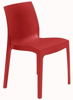 Presto Contemporary Poly Chair In Red