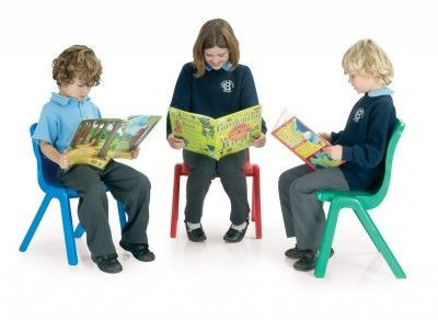 Titan One Piece Poly Chairs With Students
