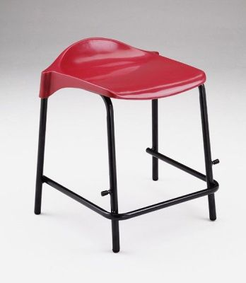 WSM Laboratory Stool Short Stool In Red