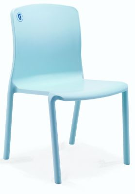 Titan Plus Light Blue Poly Healthcare Side Chair
