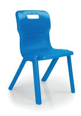 Titan Anti Microbial Classroom Chair Blue